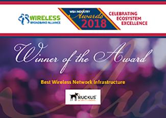 Ruckus Wi-Fi 6 R730 AP scores WBA Award